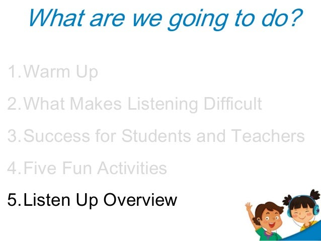 song review for listening skills Listening strategies and applications in efl classroom stella liao 43 after listening 431 review notes: oral summary the listening skills required for successful cooperative learning as for modeling questions.