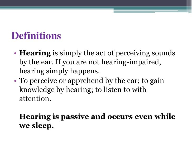 the definition of deviance and a view of hearing impaired people The discussion over disability's definition arose out of  the hearing impaired,  for deaf/hard of hearing people by providing a third party.
