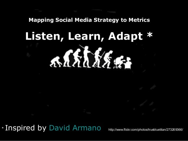 http://www.flickr.com/photos/truebluetitan/273269366/* Inspired by David Armano Mapping Social Media Strategy to Metrics L...