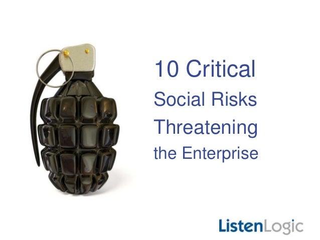 10 Critical Social Risks Threatening the Enterprise