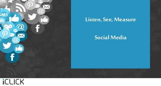 Listen, See,Measure Social Media