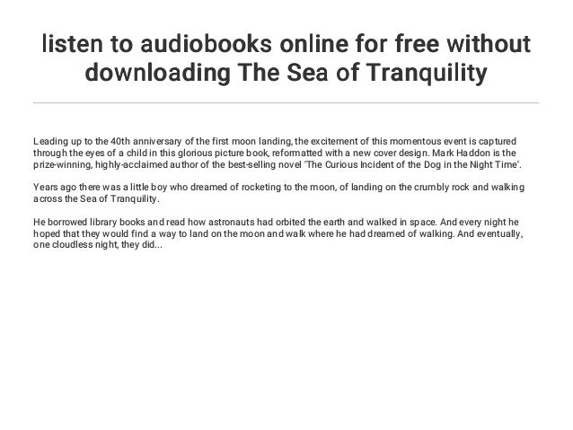 listen to audiobooks online for free without downloading The