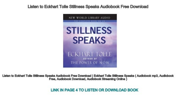 eckhart tolle audio books free download
