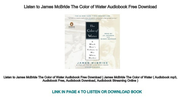Listen to James McBride The Color of Water Audiobook Free Download