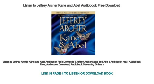 ✏ google download book kane and abel 30th anniversary edition.