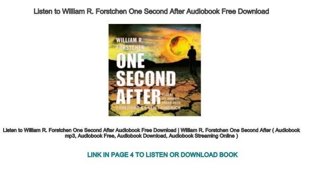 Download audiobook of william r. Forstchen one second after mp3 free ….