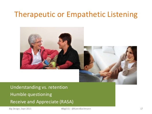 Takeaways • Listening relies on multiple senses • Listening is a key to empathy • Listening faces many challenges, but you...