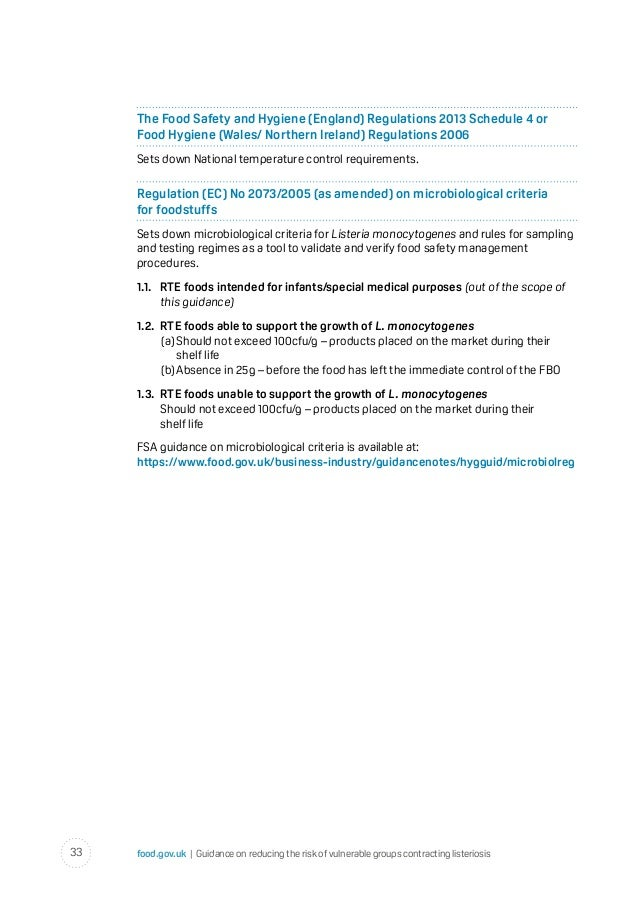 the food safety and hygiene england regulations