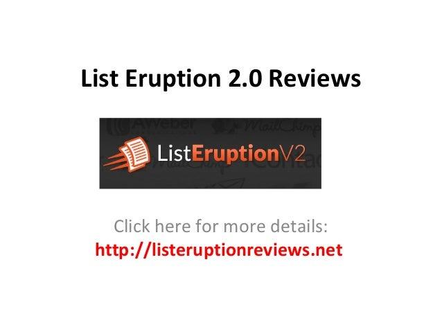 List Eruption 2.0 ReviewsClick here for more details:http://listeruptionreviews.net