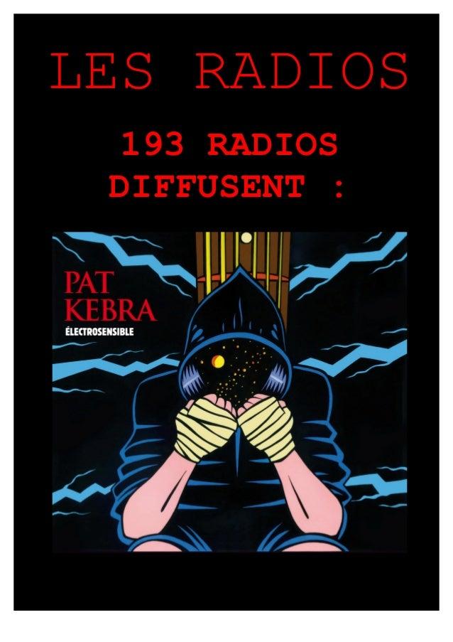 LES RADIOS 167 RADIOS DIFFUSENT :