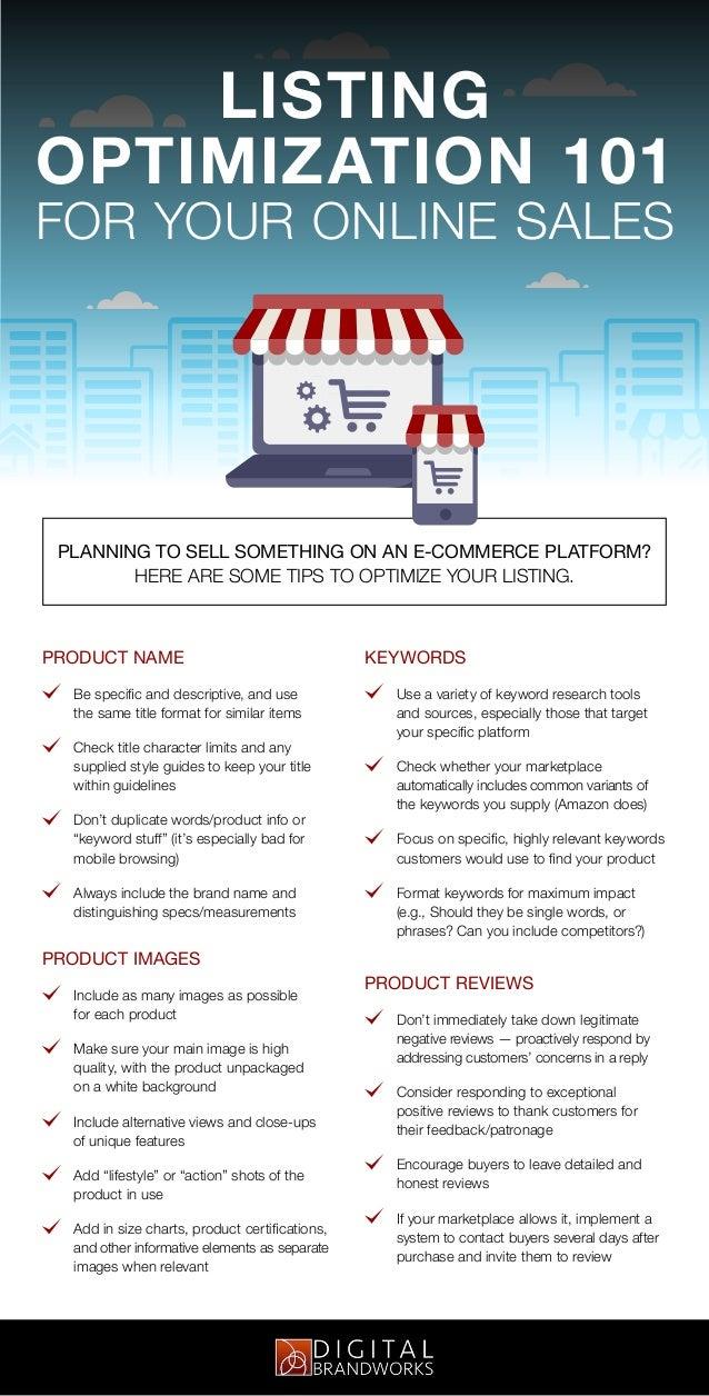 Listing Optimization Tips presented by: Digital Brandworks