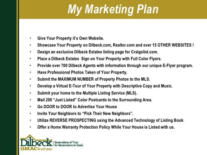 15. My Marketing Plan ...