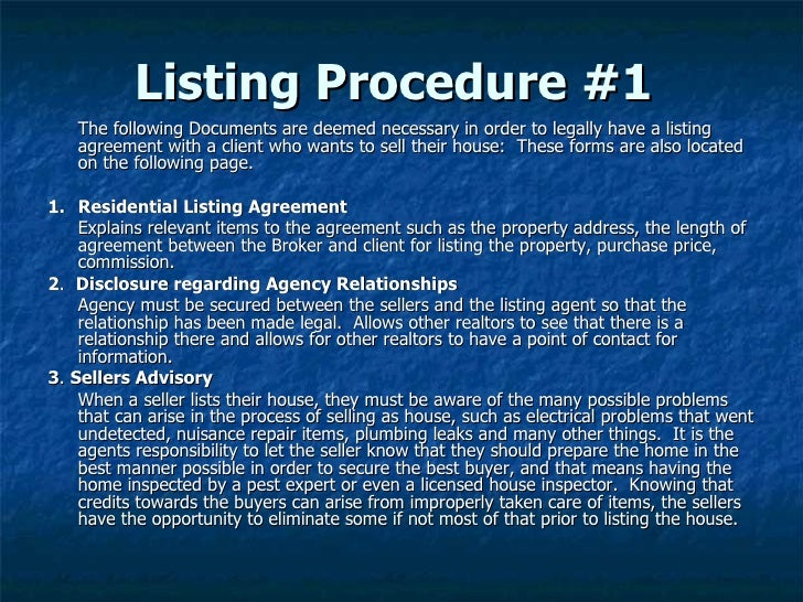 Listing A Property For Sale Slide 3