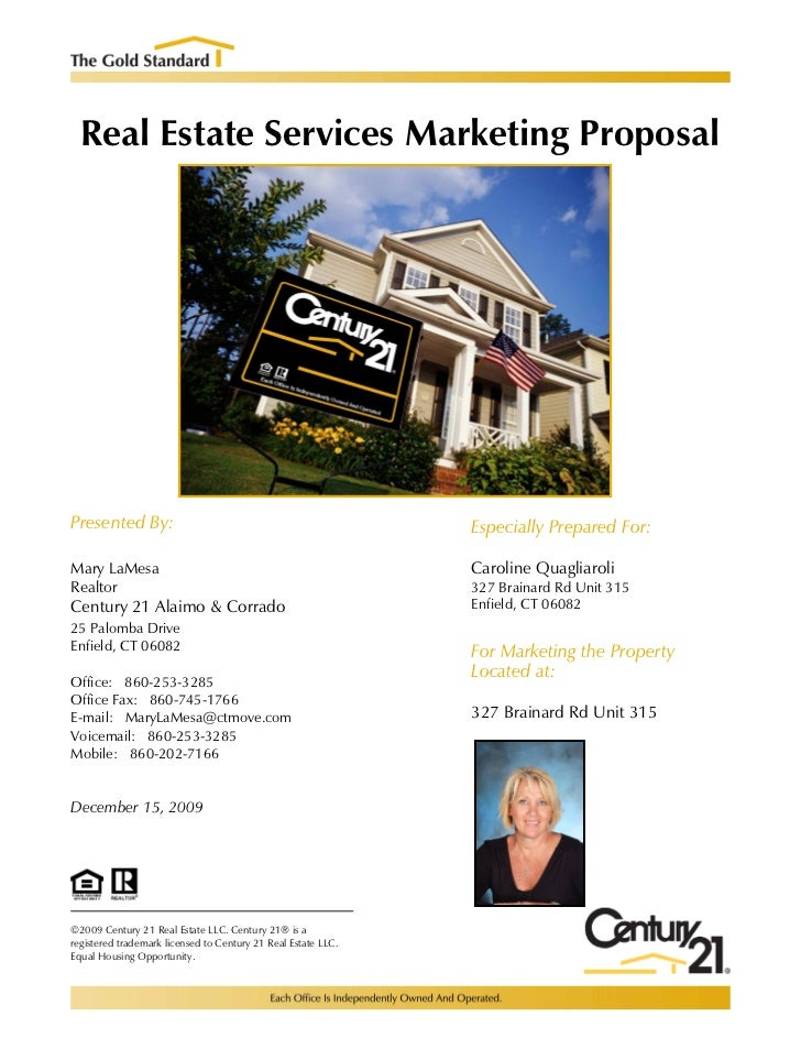 Real Estate Services Marketing ProposalPresented By:                                                  Especially Prepared ...