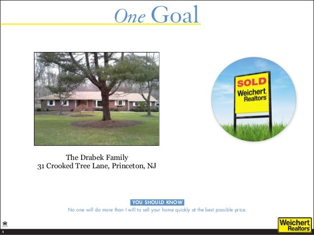 One Goal                                YOU SHOULD KNOW    No one will do more than Iwill to sell your home quickly at th...