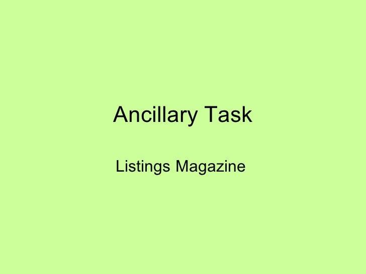 Ancillary Task Listings Magazine