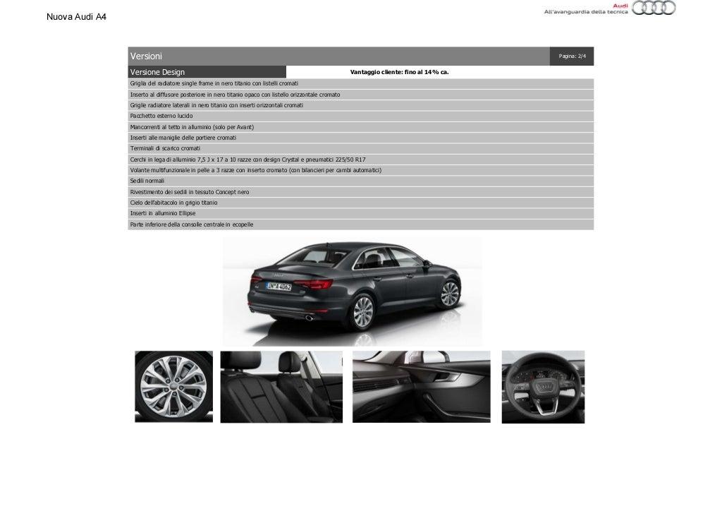 Listino Prezzi Audi A4 2016 Luglio page 16