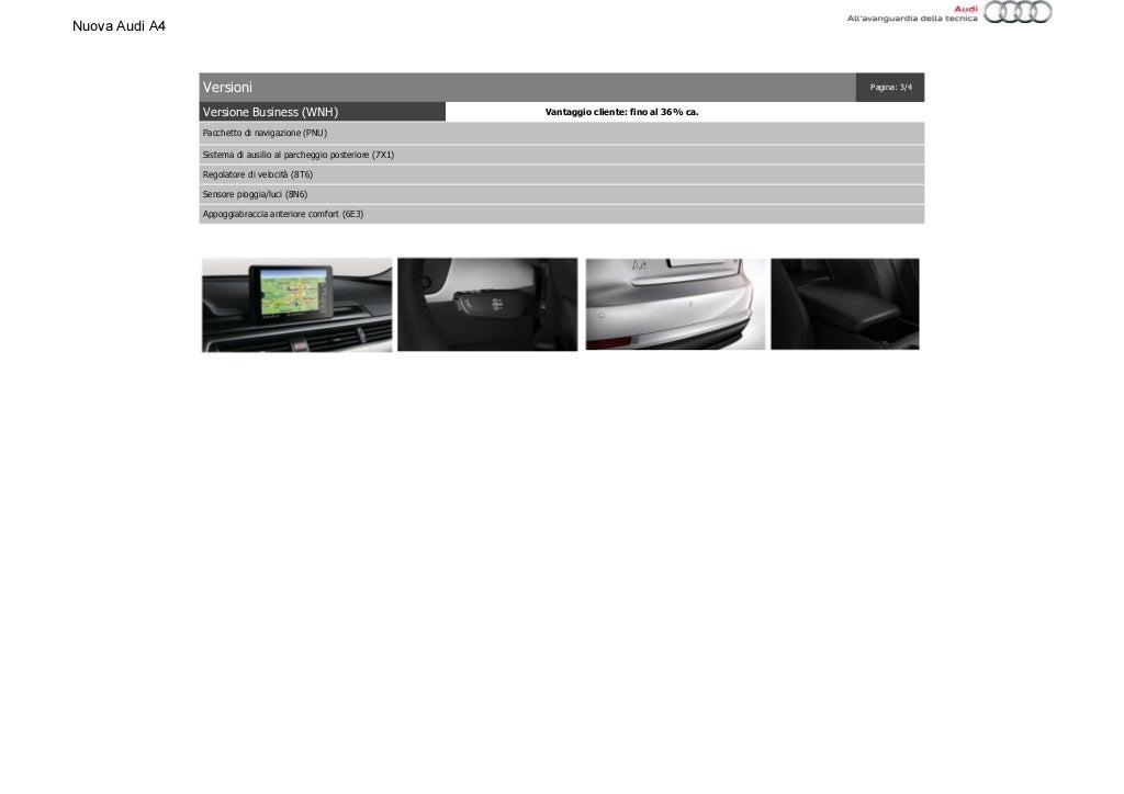 Listino Prezzi Audi A4 2016 Luglio page 17