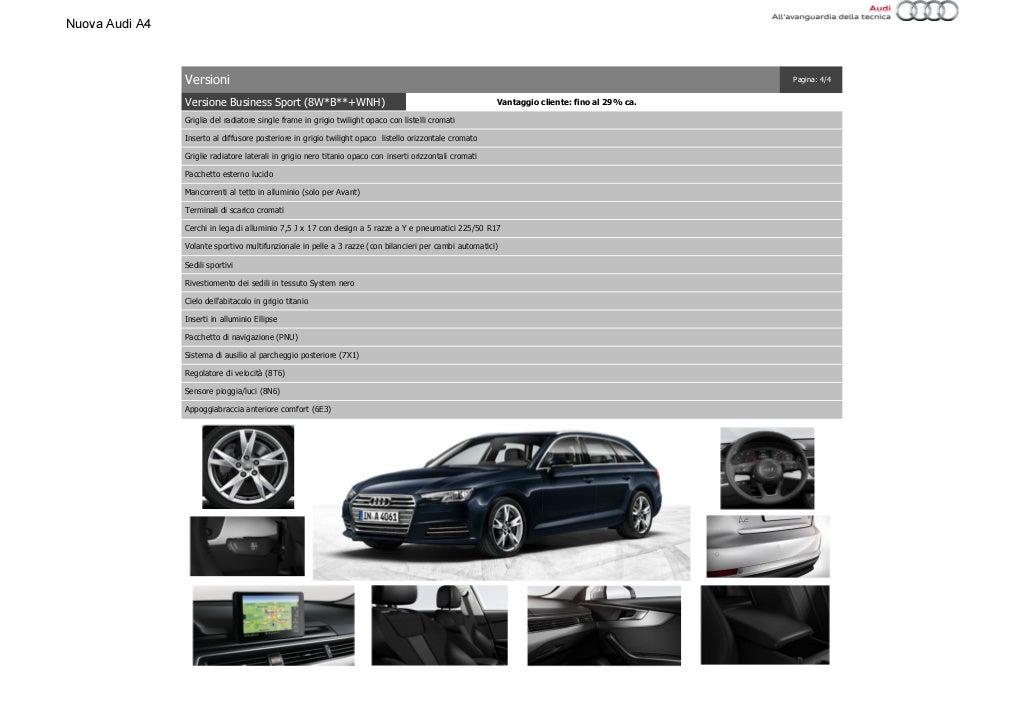 Listino Prezzi Audi A4 2016 Luglio page 18