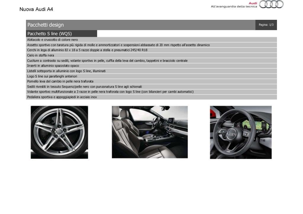 Listino Prezzi Audi A4 2016 Luglio page 19