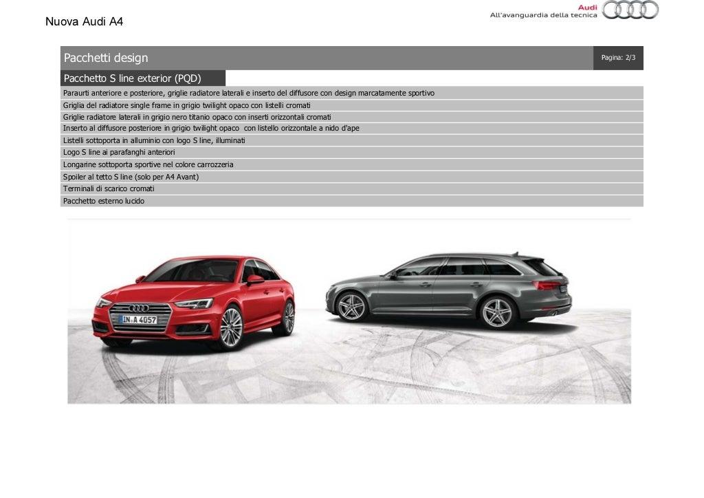 Listino Prezzi Audi A4 2016 Luglio page 20