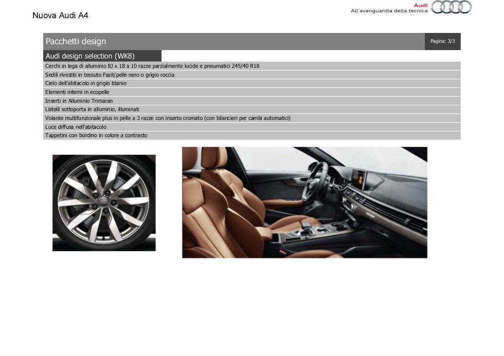 Listino Prezzi Audi A4 2016 Luglio page 21