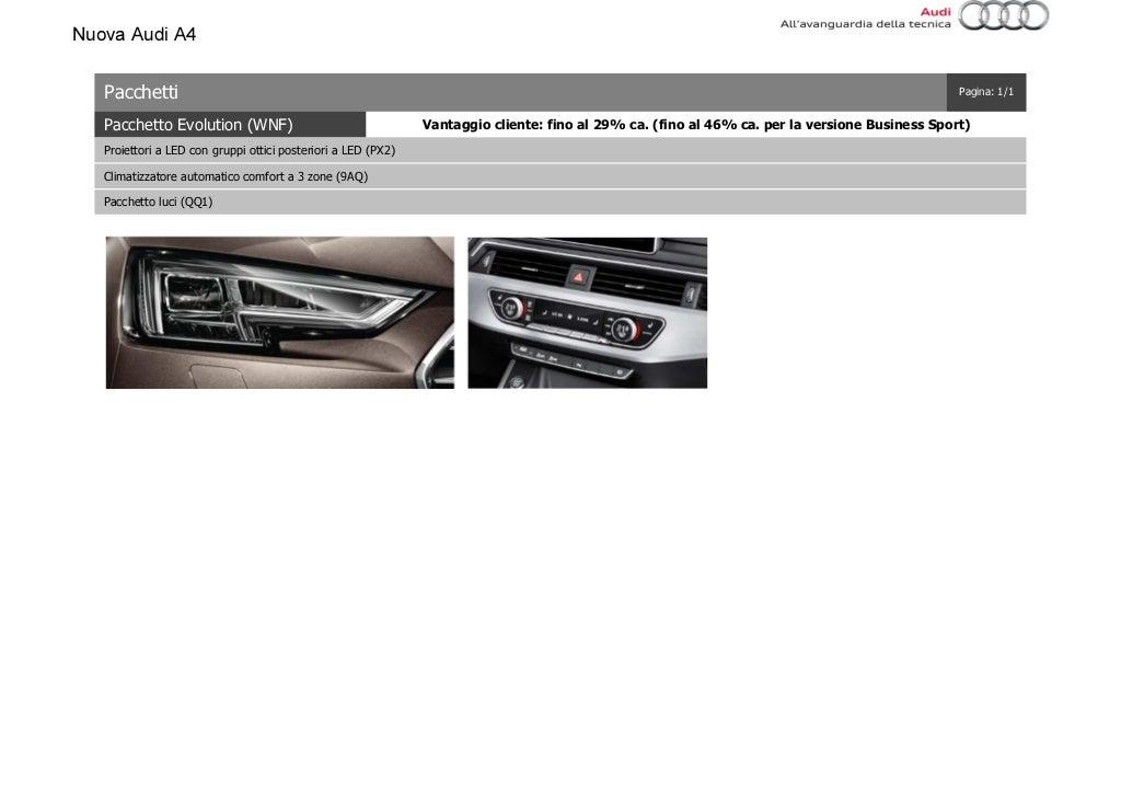 Listino Prezzi Audi A4 2016 Luglio page 22