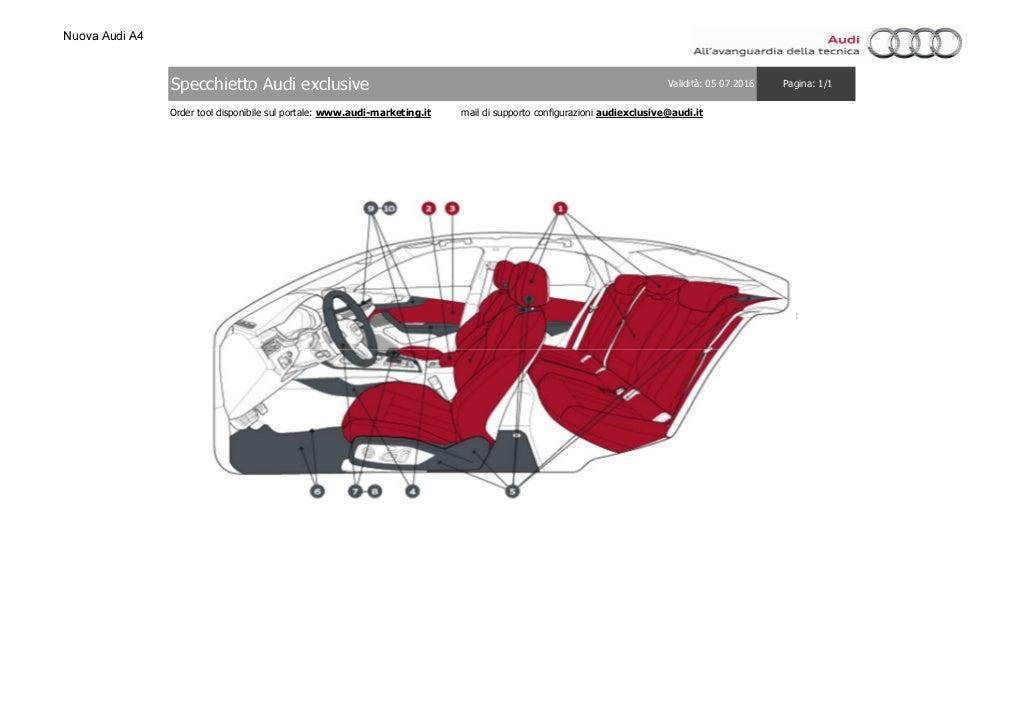 Listino Prezzi Audi A4 2016 Luglio page 56