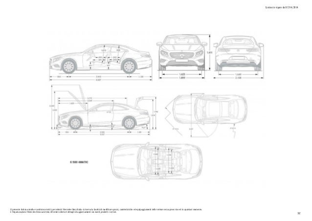Listino prezzi Mercedes Classe S Coupé