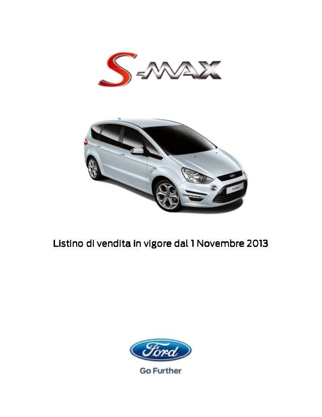 Listino di vendita in vigore dal 1 Novembre 2013