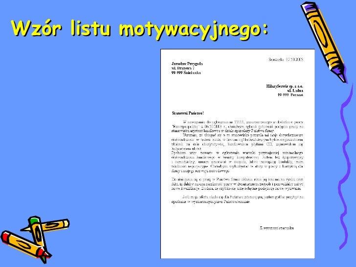 list motywacyjny prezentacja