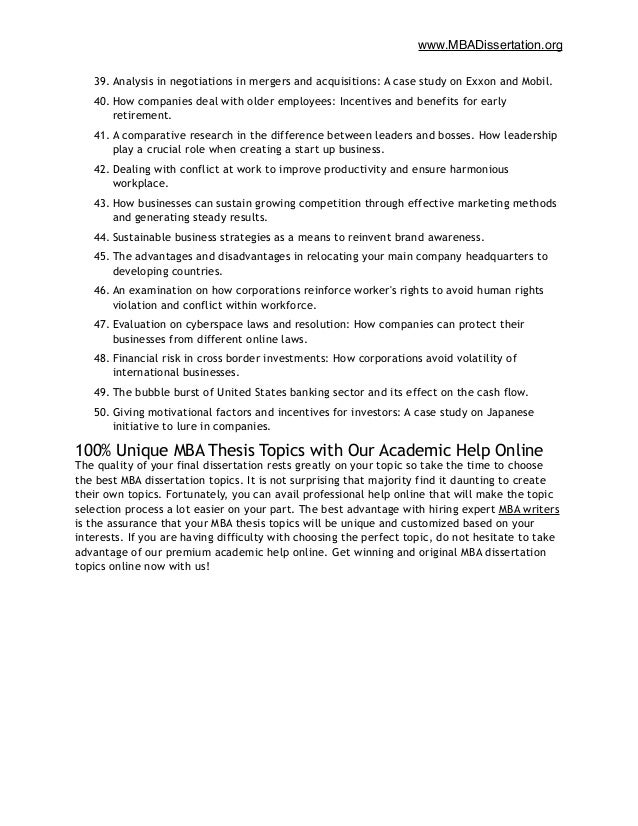 employment law dissertation titles