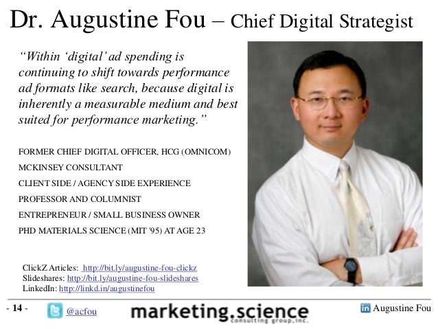 """Augustine Fou- 14 -Dr. Augustine Fou – Chief Digital Strategist""""Within """"digital""""ad spending iscontinuing to shift towards ..."""