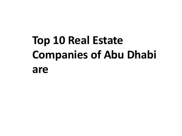 List of best abu dhabi's real estate companies