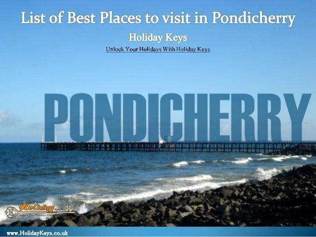 Pondicherry Tourist Places List