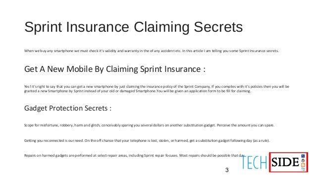 Sprint Insurance Claiming Secrets
