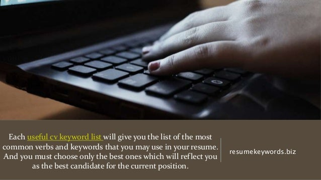 list of cv keywords 2018 which will be useful for everyone