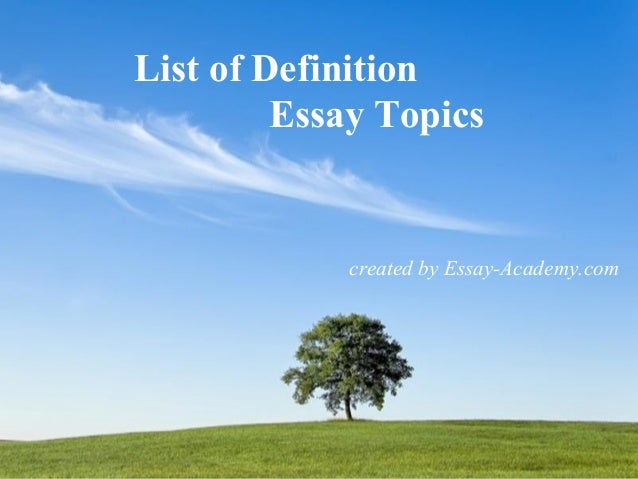 proposal essay topic list Free Essays and Papers