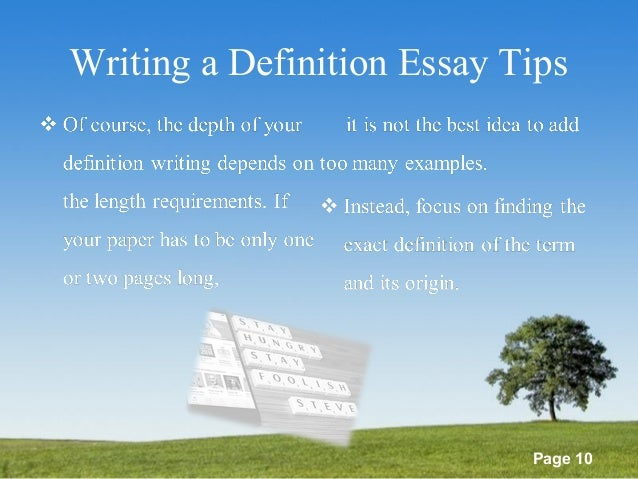 list of definitions essay topics powerpoint templates page 10 writing a definition essay tips