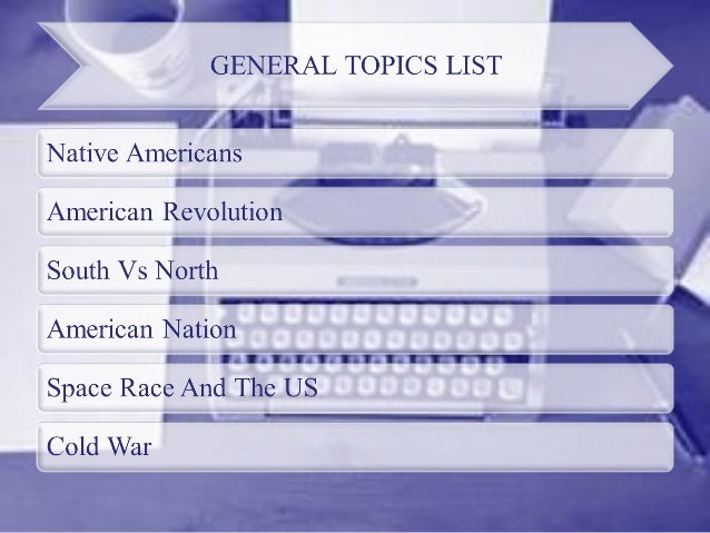 us history topics for research paper Interesting research paper topics us history we deliver only authentic, highest quality papers on time you will also receive free revisions and a money-back.