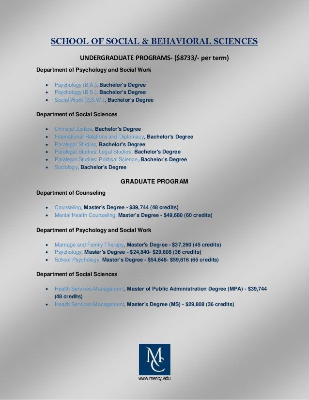 Mercy College List Of Programs