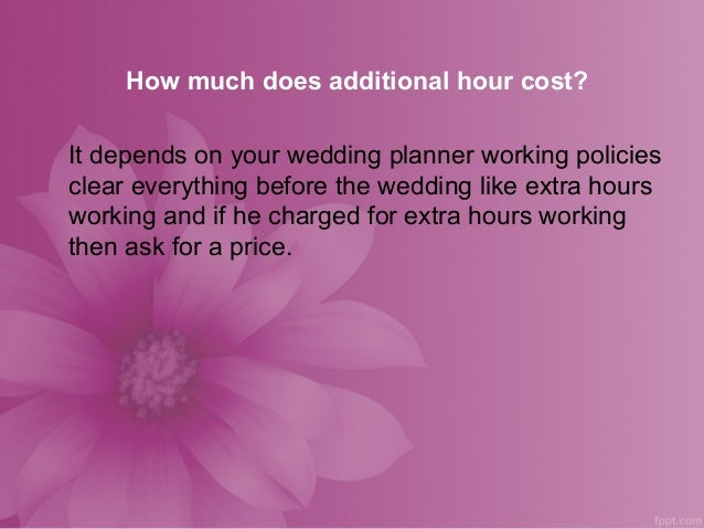 List of questions ask to your wedding planner by Hugh Gaughan