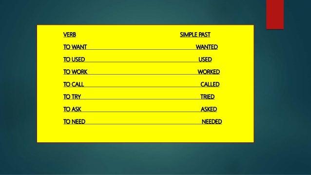 list of regular verbs power point