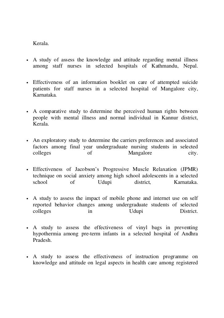 rguhs psychiatry thesis topics