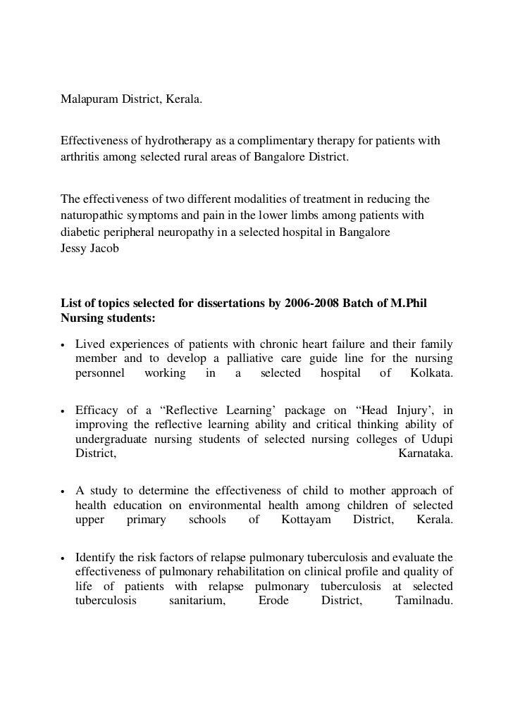 thesis topics in pediatrics rguhs