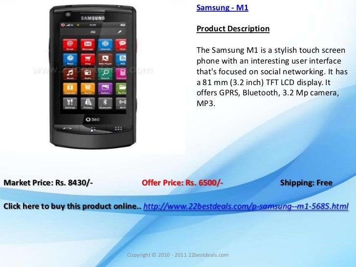 Samsung - M1                                                          Product Description                                 ...