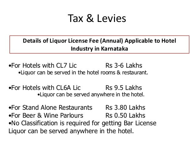 list of sanctions and licenses required for hotels in india