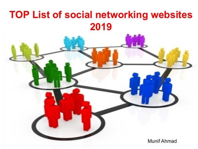 TOP List of social networking websites 2019 Munif Ahmad