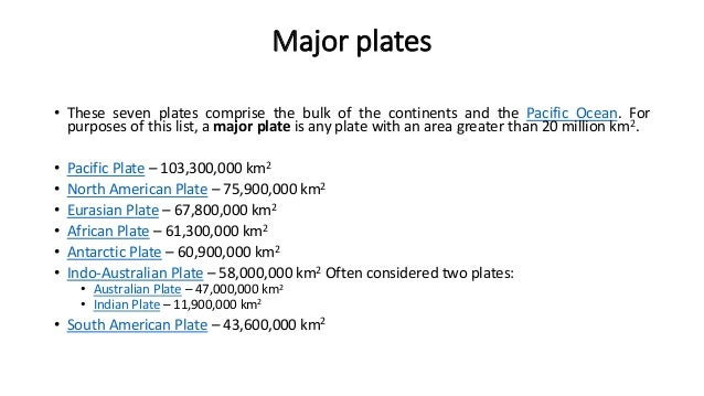 List Of Tectonic Plates - List of continents by area