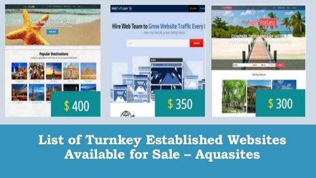 list of turnkey established websites available for sale aquasites